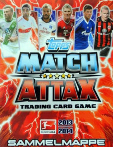 German Fussball Bundesliga 2013-2014. Match Attax