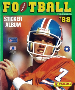 Panini NFL Sticker Collection 1988