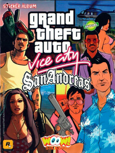 WOOW! Stickers Grand Theft Auto. Vice City. San Andreas