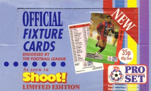 Pro Set English Football Fixture 1991-1992