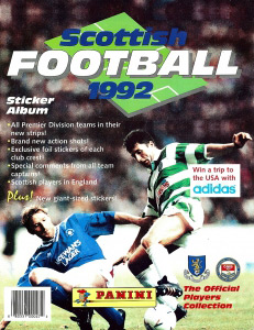 Panini Scottish Football 1991-1992