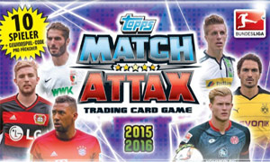 German Fussball Bundesliga 2015-2016. Match Attax
