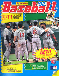 Panini Baseball Sticker Album 1992