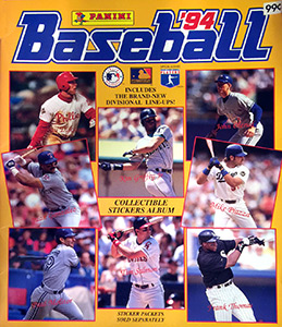 Panini Baseball Sticker Album 1994