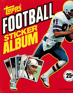 Topps NFL Sticker Album 1981