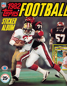 Topps NFL Sticker Album 1982