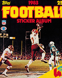 Topps NFL Sticker Album 1983