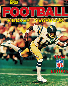 NFL Sticker Yearbook 1984