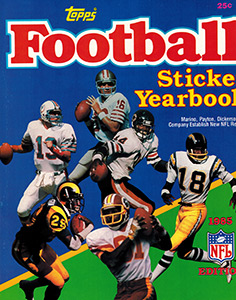 Topps NFL Sticker Yearbook 1985