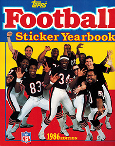 Topps NFL Sticker Yearbook 1986