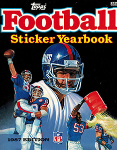 Topps NFL Sticker Yearbook 1987