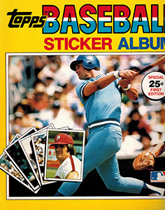 Baseball Sticker Album 1981