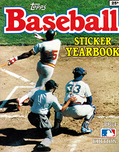 Topps Baseball Sticker Yearbook 1984
