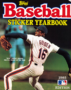 Baseball Sticker Yearbook 1985