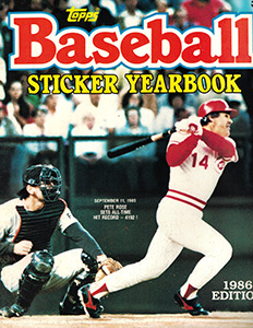 Topps Baseball Sticker Yearbook 1986