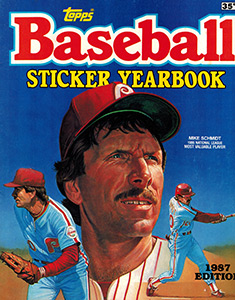 Baseball Sticker Yearbook 1987