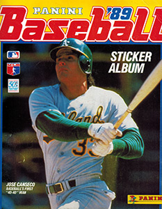Panini Baseball Sticker Album 1989