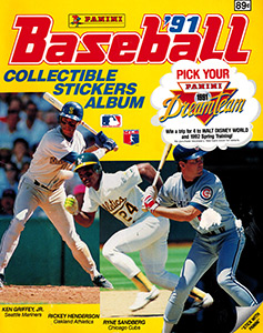 Panini Baseball Sticker Album 1991