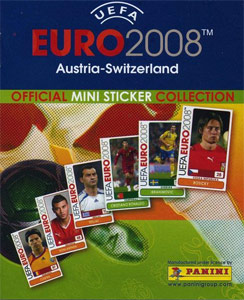 Panini UEFA Euro Austria-Switzerland 2008. Mini Sticker Collection