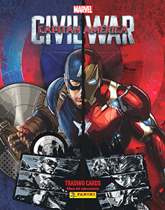 Panini Captain America: Civil War. Trading cards