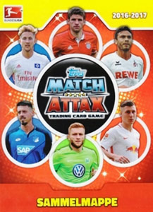 German Fussball Bundesliga 2016-2017. Match Attax