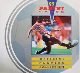 Panini UK Players Collection 1991-1992