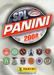 Panini Scottish Premier League 2007-2008. Trading Card Game