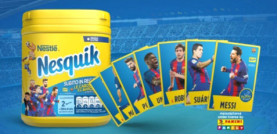 Panini F.C. Barcelona Official Nesquik Cards