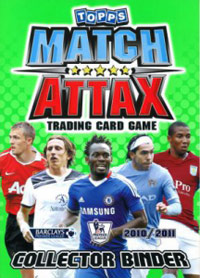 English Premier League 2010-2011. Match Attax