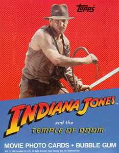 Topps Indiana Jones and the Temple of Doom