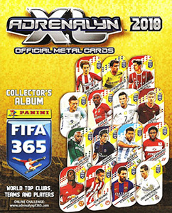 Panini FIFA 365: 2017-2018. Adrenalyn XL. Metal Cards