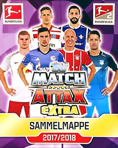 Topps German Fussball Bundesliga 2017-2018. Match Attax Extra