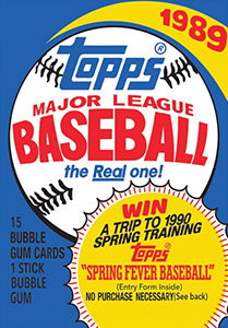 Topps Major League Baseball 1989