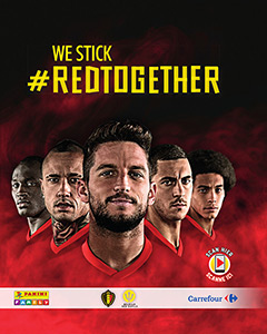 Panini Belgian Red Devils We Stick #Redtogether