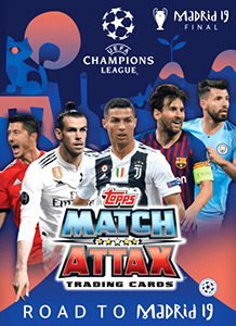 Topps UEFA Champions League 2018-2019. Match Attax. Road to Madrid 19