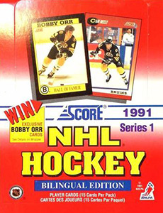 Score NHL Hockey 1991-1992 Canadian Bilingual Edition