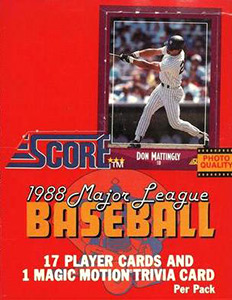 Score Major League Baseball 1988