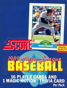 Score Major League Baseball 1989