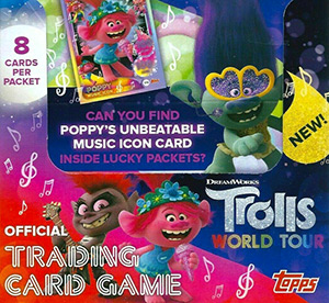 Topps Trolls. World Tour. Trading Card Game
