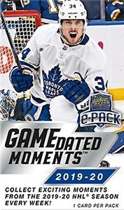 Upper Deck Game Dated Moments Hockey 2019-2020
