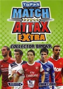 English Premier League 2010-2011. Match Attax Extra