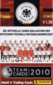 Panini Deutsche Nationalmannschaft 2010. Cards