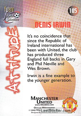 Denis Irwin (Attitude) - Back