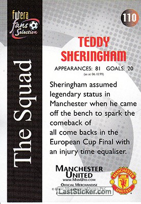 Teddy Sheringham (The Squad) - Back