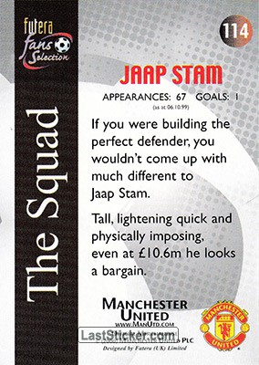 Jaap Stam (The Squad) - Back