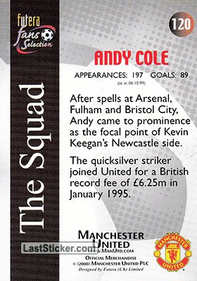 Andy Cole (The Squad) - Back