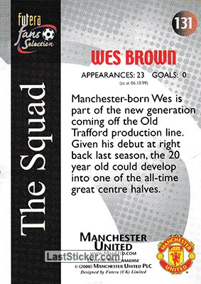 Wes Brown (The Squad) - Back