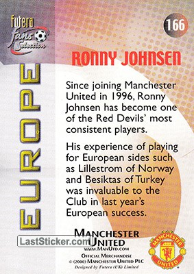 Ronny Johnsen (Europe) - Back