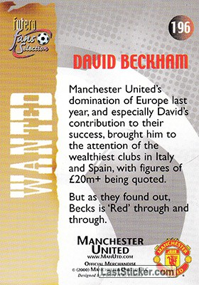 David Beckham (Wanted) - Back