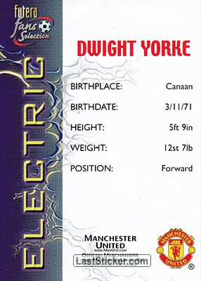 Dwight Yorke (Electric) - Back